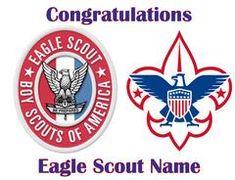 "Eagle Scout Boy Scouts Edible Cake Topper - 6"" Round"