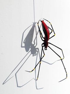 Papuan Orb Weaver Spider redux, glass spider by Wesley Fleming