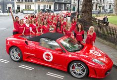 70 women hit the road in style to raise money for (RED). Last week to sponsor one of them! via Telegraph