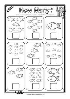 Numbers to 10 (Ten) Count and Write Worksheets / Printables Printable Multiplication Worksheets, Kindergarten Addition Worksheets, Kindergarten Math Activities, Writing Worksheets, Preschool Math, Multiplication Tables, Number Worksheets, Maths, English Activities For Kids