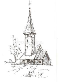 Landscape Pencil Drawings, Landscape Sketch, Pencil Art Drawings, Cool Art Drawings, Art Drawings Sketches, Landscape Art, Landscape Photography, Landscape Timbers, Illustration Sketches