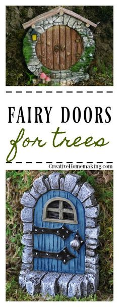 Fairy doors on trees | these fairy doors for trees are the perfect accessories for your DIY fairy garden.