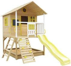 Yellow Cubby House Set by Outdoor Kids. Get it now or find more Outdoor Play Equipment at Temple & Webster. Kids Cubby Houses, Kids Cubbies, Play Houses, Best Christmas Gifts, Christmas Fun, Double Casement Windows, Kids Outdoor Play Equipment, Metal Swing Sets