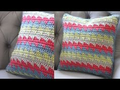 Crochet a Pillow: Spike Stitch by Repeat Crafter Me Crochet Fabric, Crochet Pillow, Crochet Stitches, Crochet Patterns, Repeat Crafter Me, Yarn Projects, Crochet Projects, Crochet Tutorials, Learn To Crochet