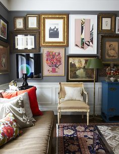 Gallerina Grey - 15 Rooms That Make The Case For Two-Toned Walls - Photos