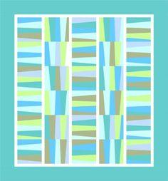 Escapade quilt pattern by Rachel Griffith Designs, via Robert Kaufman. #quilt #quilt_pattern