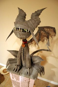 Paper Mache Halloween | Made from paper mache, trash and a few pieces of unwanted junk I had ...