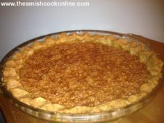 Amish Oatmeal Pie