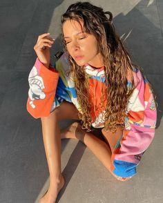 Camila Gallardo, Rain Jacket, Windbreaker, Dreadlocks, Celebrities, Instagram, Hair Styles, Jackets, Beauty