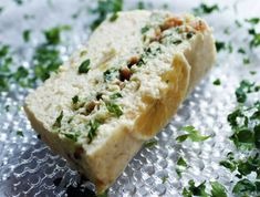 Fish loaf with smoked salmon and basil