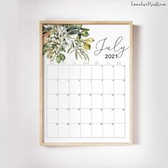 Printable Wall Calendar 2021 Watercolor Calendar 2021   Etsy Feather Wall Art, Christian Wall Art, Floral Wall, Wall Calendars, African Art, Printing Services, Photo Wall Art, Wall Art Prints, Printables