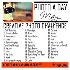 May photo challenge from Instagram.