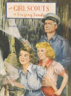 The Girl Scouts at Singing Sands by Mildred A. Wirt, author of the Nancy Drew series. Books can still be found in print and as Nook Books.