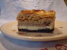 Međimurska gibanica  - poppy, walnuts,fresh cheese and apple layered cake from Medjimurje county, northern Croatia