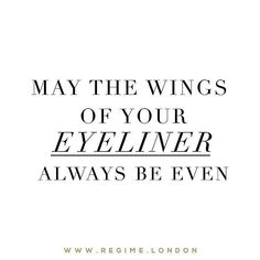 On days like today may the wings of your eyeliner always be even!  _ Shop by clicking the link in the bio @regimelondon or go to www.Regime.London
