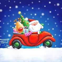 Hannah Wood - Santa and friends in car (1).jpg