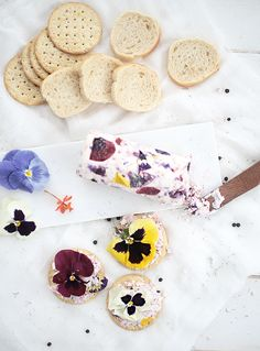 ... floral goat cheese with dill & cracked pepper ...