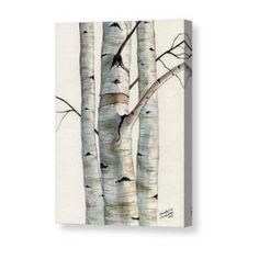 Three Birch Trees Canvas Print / Canvas Art by Christopher Shellhammer Birch Tree Art, Birch Branches, Tree Canvas, Canvas Art, Canvas Prints, Book Corner Display, Mirror Painting, Painting Art, Birch Tree Tattoos