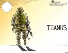 Yes, a million times over. I'll never really get to explain how thankful and grateful I am for the men and women who fight for my freedom.