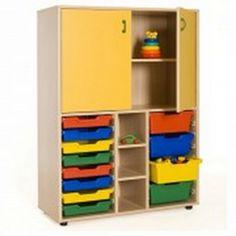 Mueble escolar medio cubetero y armario