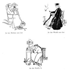 """The first """"what I think I do"""" meme. From 1909."""