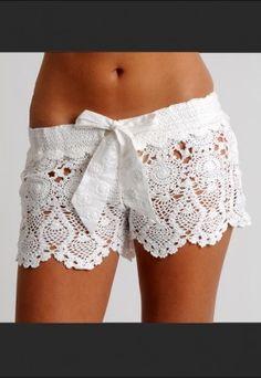 Crochet Short - White