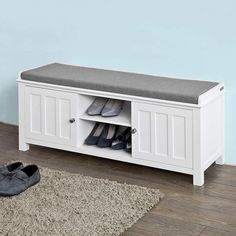 Looking for Haotian White Storage Bench 2 Doors & Removable Seat Cushion, Shoe Cabinet Shoe ? Check out our picks for the Haotian White Storage Bench 2 Doors & Removable Seat Cushion, Shoe Cabinet Shoe from the popular stores - all in one. Hallway Shoe Storage Bench, White Storage Bench, Storage Bench With Cushion, Padded Bench, Shoe Bench, Bed Bench, Mudroom Benches, Wood Benches, Storage Benches