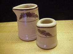 Vintage Tepco China Restaurant Pine Cone Large and Small Creamers #Tepco