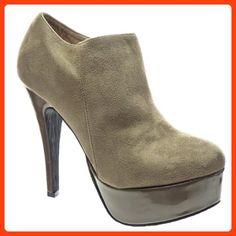 new style e680b 4b48c Kickly - damen Mode Schuhe Pumpe Plateauschuhe Low boots Schuhabsatz  Stiletto - Taupe T 40 -