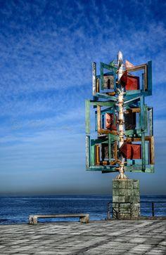 Wind sculpture by Cesar Manrique, Las Canteras Beach, Las Palmas de Gran Canaria, Canary Islands, Spain