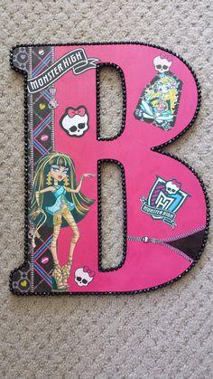 """18"""" Wooden Letter – Monster High Theme: $35"""