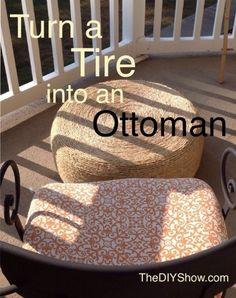 Tire into an Ottoman DIY