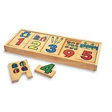 Woodshop Toys 1-2-3 Puzzle Blocks