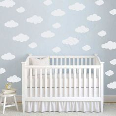 Cloud Decal White Cloud Wall Decals Wall Decals Cloud And Walls - Nursery wall decals clouds