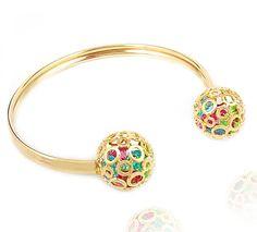Pulseira Bracelete Cristais Colors | Moniky Semi Jóias