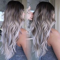 - All For Hair Color Balayage Balayage Ombré, Brown Hair Balayage, Brown Blonde Hair, Hair Color Balayage, Hair Highlights, Color Highlights, Blonde Ombre, Cute Hair Colors, Gorgeous Hair Color