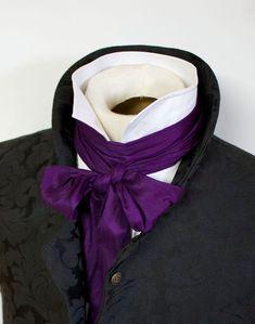 Extra LONG Slim Royal Purple REGENCY Brummel by elegantascot, $30.00