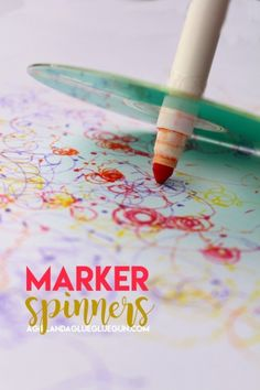 kids craft--marker spinners. Makes fun doodles and most supplies can be found around the house