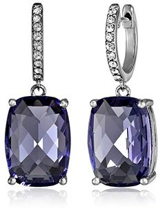 Sterling Silver Swarovski Clear Crystal Dangle Earrings - Jewelry For Her