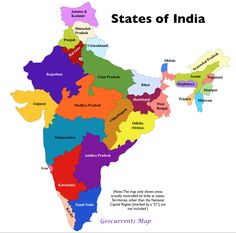 States of India Map