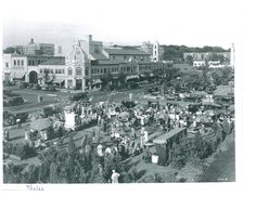1932 Plaza Art Fair (just about 32 years before Halls made its debut on the Plaza. Our location was a parking lot, in the upper right of the photo.)