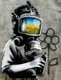 Will my children see the flowers. Will they taste the fruits. Will they develop powers . . . to expose the truth. 5 Big Names in Street Art You Should Know on ThecultureTrip.com. Click the image to read the article. (Image via etsy.com).
