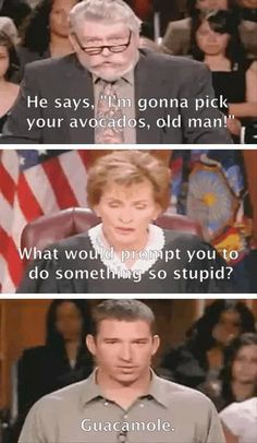 hahahahah Judge Judy
