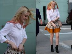 dakota fanning: in love with the skirt!