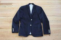 Club Monaco Men's Navy 2 Button Sport Coat Blazer Sz. 38 #ClubMonaco #FourButton #Menswear