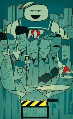 Ghostbusters [Ivan Reitman, 1984] «Movie Posters Author: Ale Giorgini»
