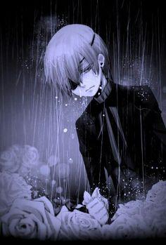 The rainy days in Japan inspired this beautiful art. Lolis Anime, Anime Demon, Anime Art, Black Butler Manga, Picture Cloud, Black Butler Characters, Chibi, 8bit Art, Sebaciel