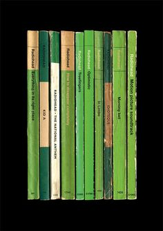 Radiohead 'Kid A' Album As Books Poster Print via Etsy