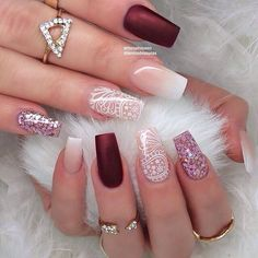 "May 2020 - Explore weddingsonlyin's board ""Bridal Nail Art Designs Stylish Nails, Trendy Nails, Perfect Nails, Gorgeous Nails, Bridal Nail Art, Lace Nails, Coffin Shape Nails, Cute Acrylic Nails, Nagel Gel"
