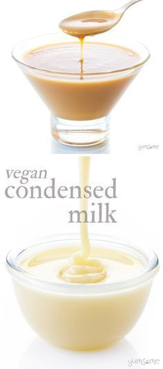 Thick, gooey, and oh so sweet, my vegan condensed milk adds a deliciously decadent layer to all kinds of sweet dishes. | yumsome.com